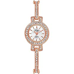 Watch, Tonwalk Women Stainless Steel Rhinestone Quartz Wrist Watch