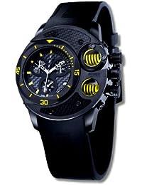 Offshore Limited 003 C - Reloj cronógrafo de cuarzo para hombre con correa de silicona, color negro