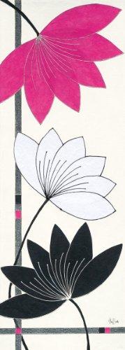 Eurographics ABU1013 Alan Buckle, Fuchsia Lotus Blooms 25 x 70 cm, Hochwertiger Kunstdruck -