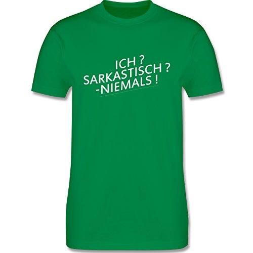 Statement Shirts - Ich? Sarkastisch ? -Niemals! - Herren Premium T-Shirt Grün