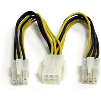 Startech.com 6 inch PCI Express Power Splitter Cable: Amazon.co.uk ...