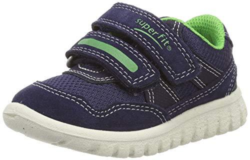Superfit Baby Jungen SPORT7 Mini Sneaker, Blau/Grün 81, 30 EU