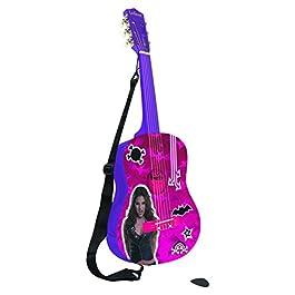 Chica Vampiro Lexibook K2000CV – Chitarra Acustica, Design Daisy O'Brian, 6 Corde, Strumento ludico, in Legno, Viola/Rosa