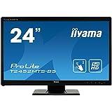 iiyama ProLite T2452MTS-B5 60cm (23,6 Zoll) LED-Monitor Full-HD 2 Punkt Multitouch optisch (VGA, DVI, HDMI, USB für Touch) schwarz