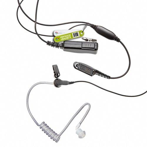 Covert Kevlar Ohrhörer für Motorola Multi-Pin Radio GP140, GP320, GP328, GP329, GP338, GP339, GP340, GP360, GP380, GP640, GP680...
