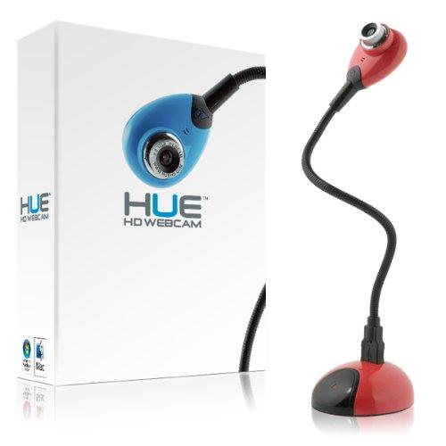 HUE HD Kamera: USB Dokumentenkamera und Webcam mit eingebautem Mikrofon für Windows & Mac (rot)
