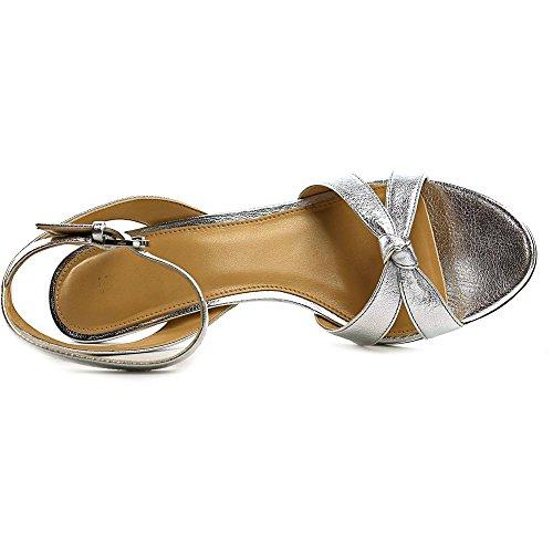 Michael Michael Kors Maxwell Mid Sandal Cuir Sandales silver