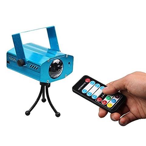 Bonker® 9W Farbwechsel Mini LED Wasser Wave Ripple Effect Bühne Licht Lampe mit Controller für Disco KTV Club Party