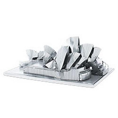 Fascinations Metal Earth MMS053 - 502574, Sydney Opera House, Konstruktionsspielzeug, 3 Metallplatinen, ab 14 Jahren - Sydney Opera House