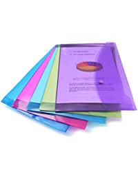 Rapesco 0688 Popper Wallet - A4/Foolscap. Assorted Colours, Pack of 5