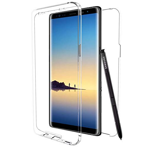 3b0726212cf MovilCom® - Funda para Samsung Galaxy Note 8 Transparente Ultra Fina Doble  360 | Clear
