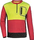 Forst Shirt Forest Jack Red Funktionsshirt Arbeitsshirt (4XL, gelb-rot-grau)
