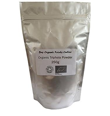 Organic Triphala Powder Grade *A* Premium Quality! Soil Association Certified Organic FREE P&P (250g) from Buy Organic Foods Online