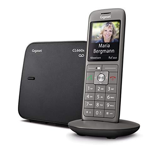 Gigaset CL660A Telefon – Schnurlostelefon / Mobilteil – mit Farbdisplay / Grosse Tasten – Design Telefon / Anrufbeantworter / Freisprechen / Analog Telefon, anthrazit - 2