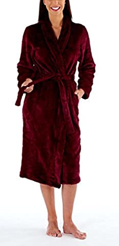 i-Smalls Women's Ultra Soft Warm Cosy Winter Long Dressing Gown (Plum) 18-20