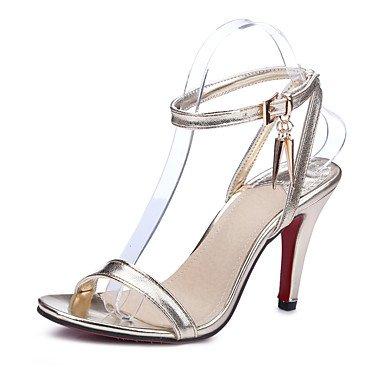LFNLYX Donna Sandali Primavera Estate Autunno altri PU Office & Carriera Party & abito da sera Stiletto Heel altri Nero Rosso Argento Oro Altri Red