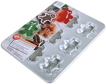 Wilton Bite-Size Gingerbread Boy Man Cookie Cake Baking Tray Pan Tin Christmas Christmas Cookie Pan