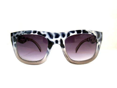 EQLEF® 1 PCS grandes lunettes de soleil d'impression lunettes cas de léopard boîte noire vMXfxqe