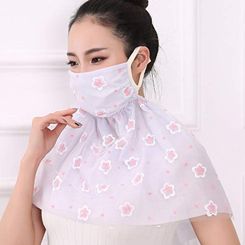 LIUQIAN Protège-épaules Double Nuance Masques Anti-poussière Femmes Printemps et été Cou de Monte Écran de Protection Solaire Masques Longs