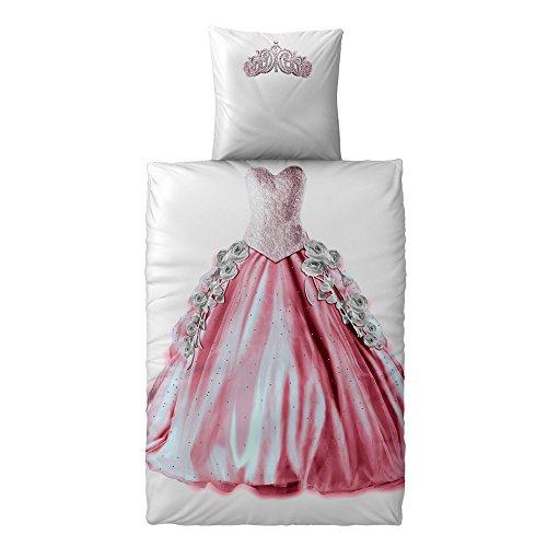 CelinaTex Fashion Fun Kinderbettwäsche 135 x 200 cm 2teilig Baumwolle Bettbezug Prinzessin rosa pink grün