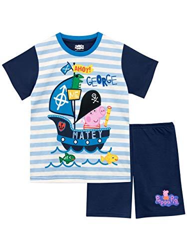 Peppa Pig Pijamas Manga Corta niños George Pig Azul