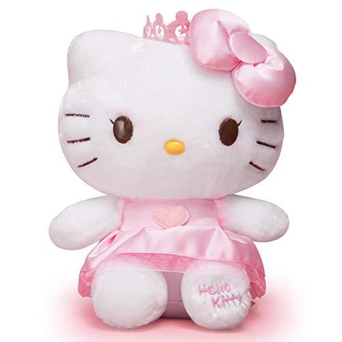 yfkgh Hello Kitty Plüschtier, dunstige Kitty Katze Figur, Hello Kitty Puppe, Kindergeburtstagsgeschenk@Jeansrock Kitty_S-1 ist ungefähr 18 cm (Plüsch Puppe Spielzeug Hello Kitty)