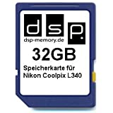 DSP Memory Z-4051557429475 32GB Speicherkarte für Nikon COOLPIX L340