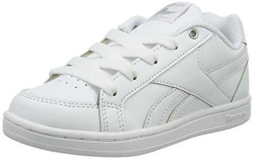 Reebok Mädchen Royal Prime Low-Top, Weiß (White/Silver), 34 EU