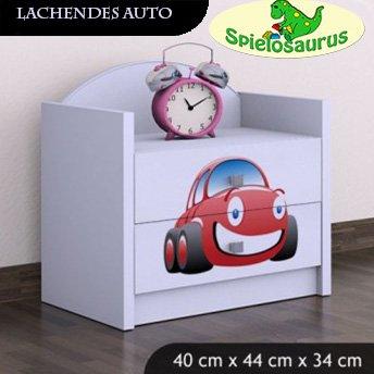 Nachttisch für Kinder - Lachendes Auto, verschiedene Farben (Weiß)