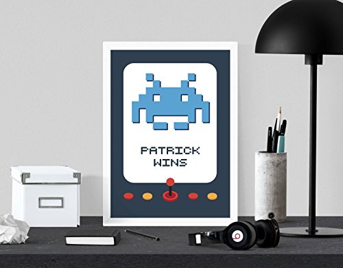 personalised-space-invaders-arcade-machine-a4-digital-art-print-wall-decor-poster