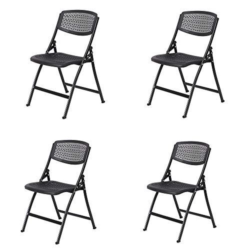 Trainings-raum Möbel (MIMI KING Klappstuhl Hohl atmungsaktiv Stuhl Training Stuhl einfache Büro Tagung Raum Stuhl Outdoor Aktivität Stuhl Hospitality Stuhl, Packung mit 4,Black)