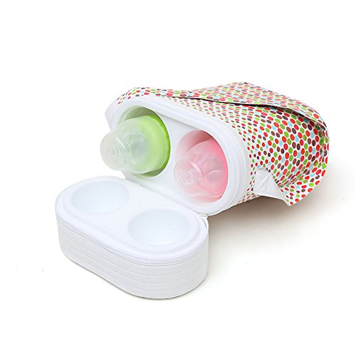 Homesave Portable Baby Flaschenwärmer, Wiederverwendbar, Single Doppel, Zufällige Farbe,Double