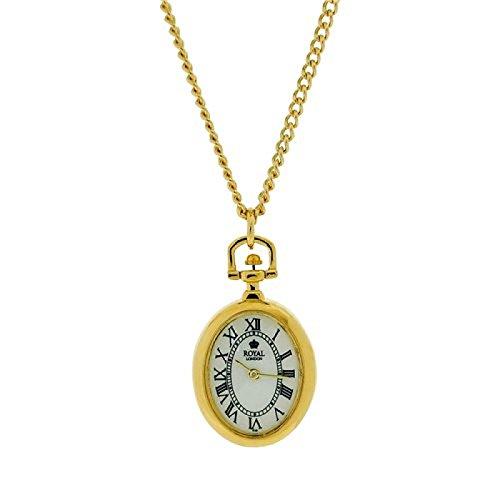 Royal London-face da donna, taglio-Collana con ciondolo a forma di orologio, 26