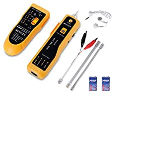 Incutex Detector rastreador de Cables Red, buscador RJ45/RJ11 para líneas telefónicas y Cables LAN, Detector de línea