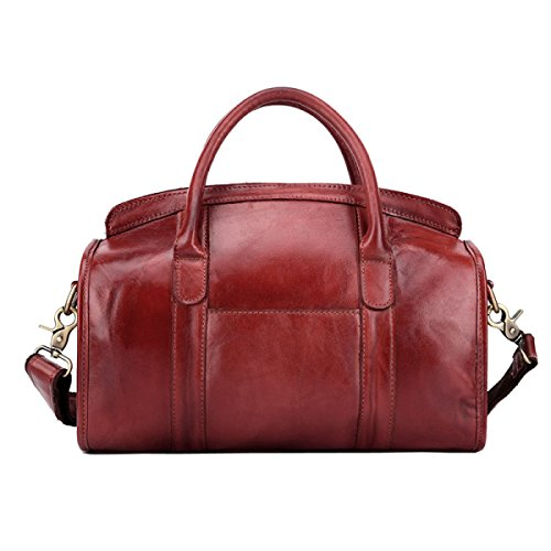 Frauen Retro Schultertaschen Leder CrossBody Messenger Bags Für Frauen Handtaschen Weekend Girls Satchel Handtasche Satchel Red