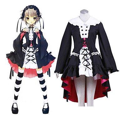 Haruhi Suzumiya Series Yuki Nagato Lolita Cosplay Kostüm , Größe XS:(150-155 CM) (Yuki Nagato Cosplay Kostüm)