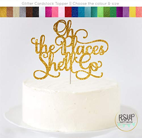 Orte Shell gehen Cake Topper Up Up Away Party Dekorationen Graduation Cake Topper M?dchen Baby Dusche Topper 1. Geburtstag Topper ()