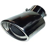 Escape Trim Tubo curvado, cromado punta de cola universal silenciador coche Acero 65 mm EX3