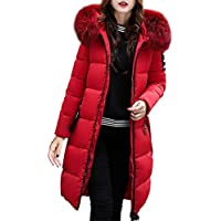 c53e7731dbf16f FORH Damen Winterjacke Wintermantel Lange Daunenjacke Jacke Outwear Frauen  Winter Warm Daunenmantel Solide Lässig Dicker Steppjacke