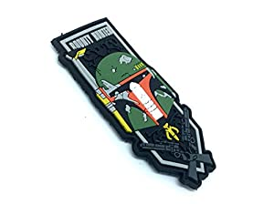 Boba Fett Bounty Hunter Fan Patch Airsoft Velcro PVC Patch