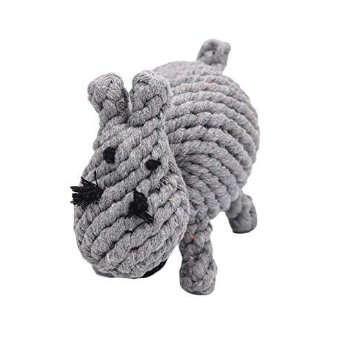 Emorias 1 Pcs Hundespielzeug Grau Hippo Haustier Kratzbaum für Katzen Bisszähne Haustier Training Zubehör (Hippo Kostüm Für Katzen)