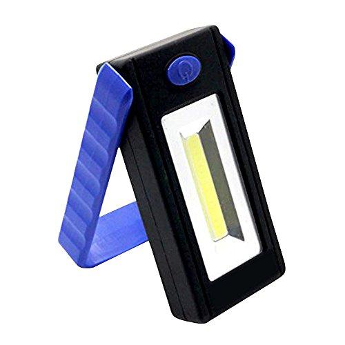 Forepin® Portatile LED Luci di Lavoro Batteria Torcia A LED Spotlight Lampada Proiettore Faro Faretto con Gancio magnetico e Supporto Stand per il Campeggio, Viaggi, Casa e Urgente Usa - Blu