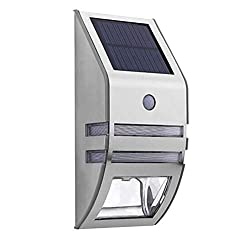 DWLXSH Outdoor Solar Light, Stainless Steel Motion Sensor Solar Wall Light, Wireless Waterproof LED Sun Light for Stairs, Terraces, Courtyards, Fences, Sidewalks, Facades (Color : Black)