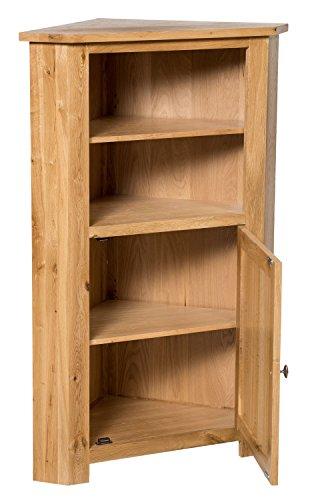 Hallowood Waverly Corner Storage Cabinet In Light Oak