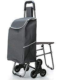 MEYLEE Mini pequeño peso ligero de uso duro de 6 ruedas de compras de comestibles Carrito