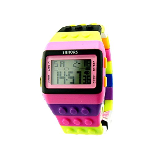 Preisvergleich Produktbild Uhr Uhren Sportuhr armbanduhr DAY.LIN Unisex bunte digitale Armbanduhr (H)