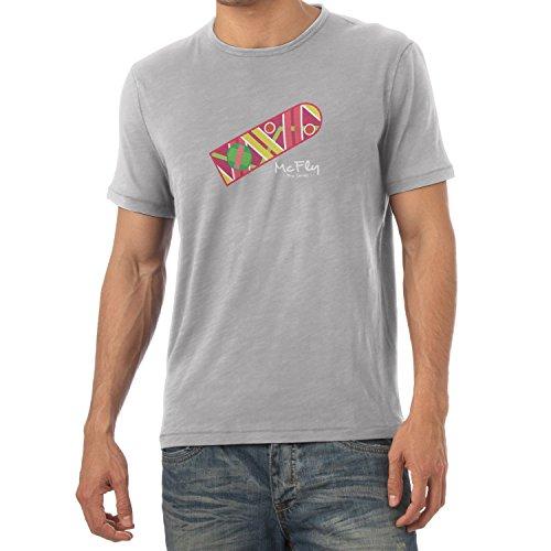 Texlab Herren McFly Pro Series Hoverboard T-Shirt, Grau Meliert, XXL