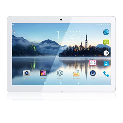 Android Tablet 10,1 Zoll PADGENE 16G Speicher 1G RAM Quad-Core CPU Tablet PC Dual Kamera 2MP und 5MP Dual-SIM Slots USB/SD IPS HD 1280x800 WiFi/3G Entsperrt Bluetooth 4,0 GPS Telefonfunktion 3g Bluetooth