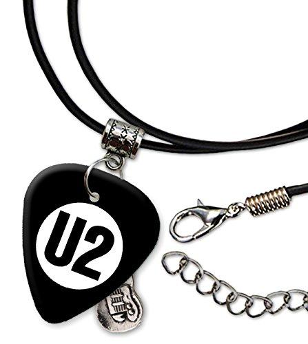 U2 Band Logo Collar de cordón de púa de guitarra (H)