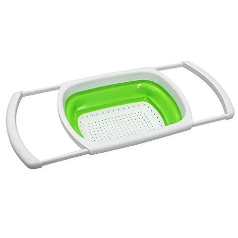 Evier Avec Passoire - KurtzyTM Passoire Égouttoir Extensible Pliable en Plastique